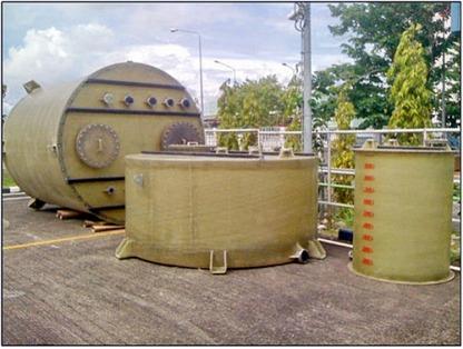 2 Fiberglass Tank